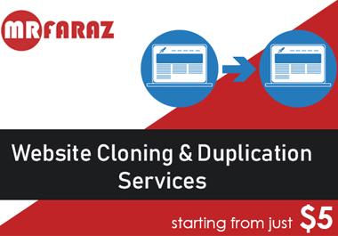 clone,  copy,  duplicate website to wordpress