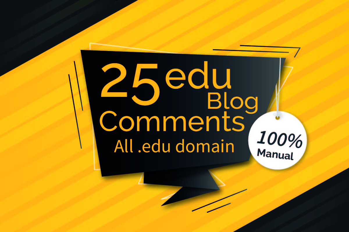 I will 25 edu blog comments high authority backlinks