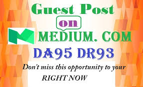 I will publish a Guest Post on MEDIUM TF79 and DA95 Website