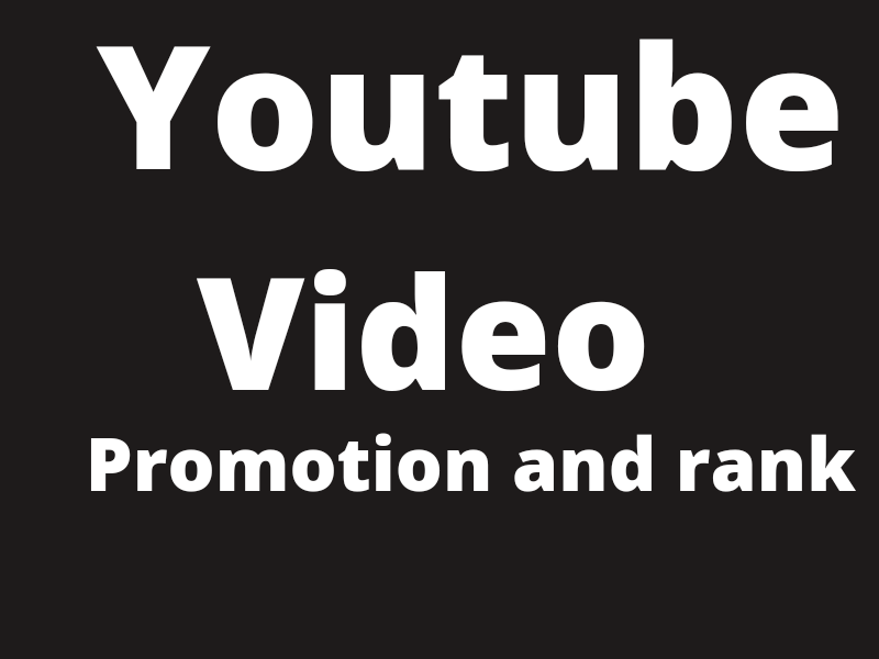 I will do youtube video rank and fast promotion