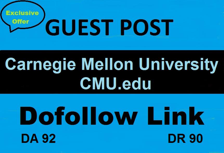 Write & Guest Post On Carnegie Mellon University CMU. edu DA 92