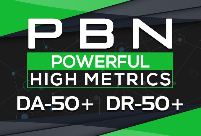 Build 20 High DA PA TF CF PBN DR 50 Homepage Quality Backlinks