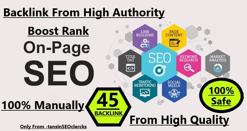 I will manually Do 45 Pr9-Pr7 High Safe SEO Backlink 2020 Best Result Ranking