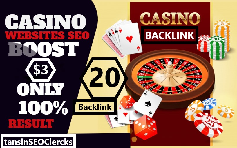 I Do Manually 20 High Quality Backlink For Rank Casino, Poker, Gambling Site On Top