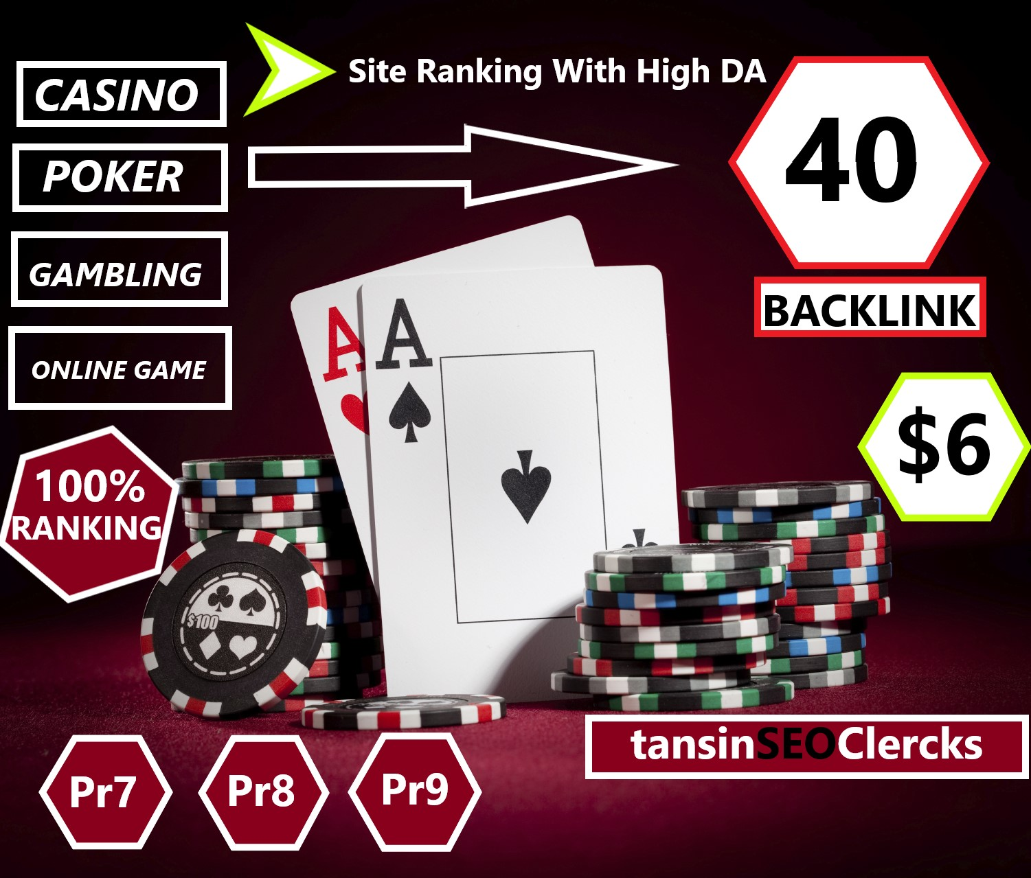Rank Your Casino,  Poker,  Gambling,  Site With 40 High Quality Backlink