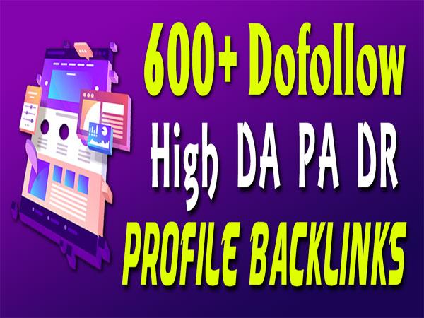 600+ Dofollow SEO Profile Backlinks