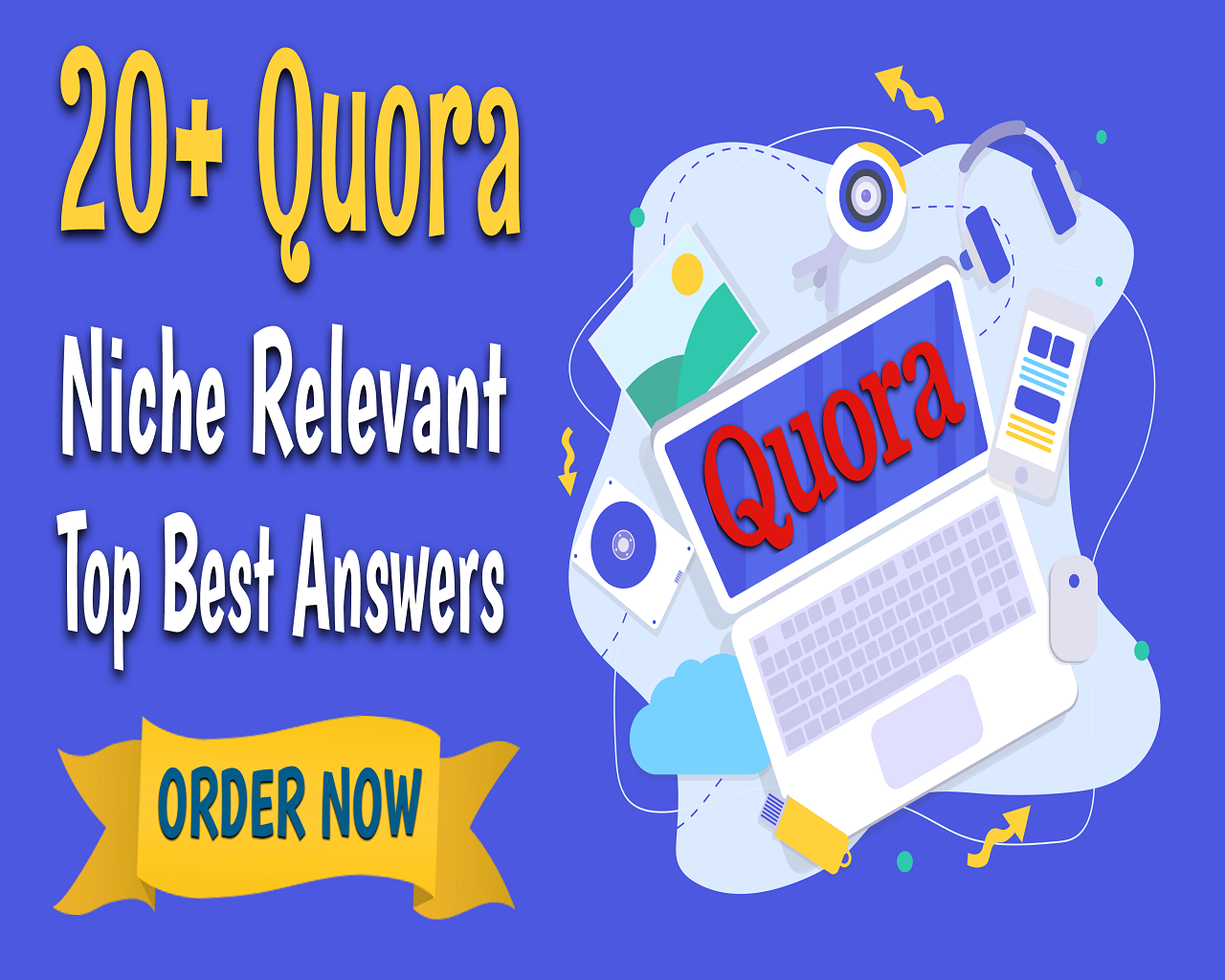 Manually Do 20 Quora Niche Relevant Keyword Related Top Best Answers Posting SEO Backlinks