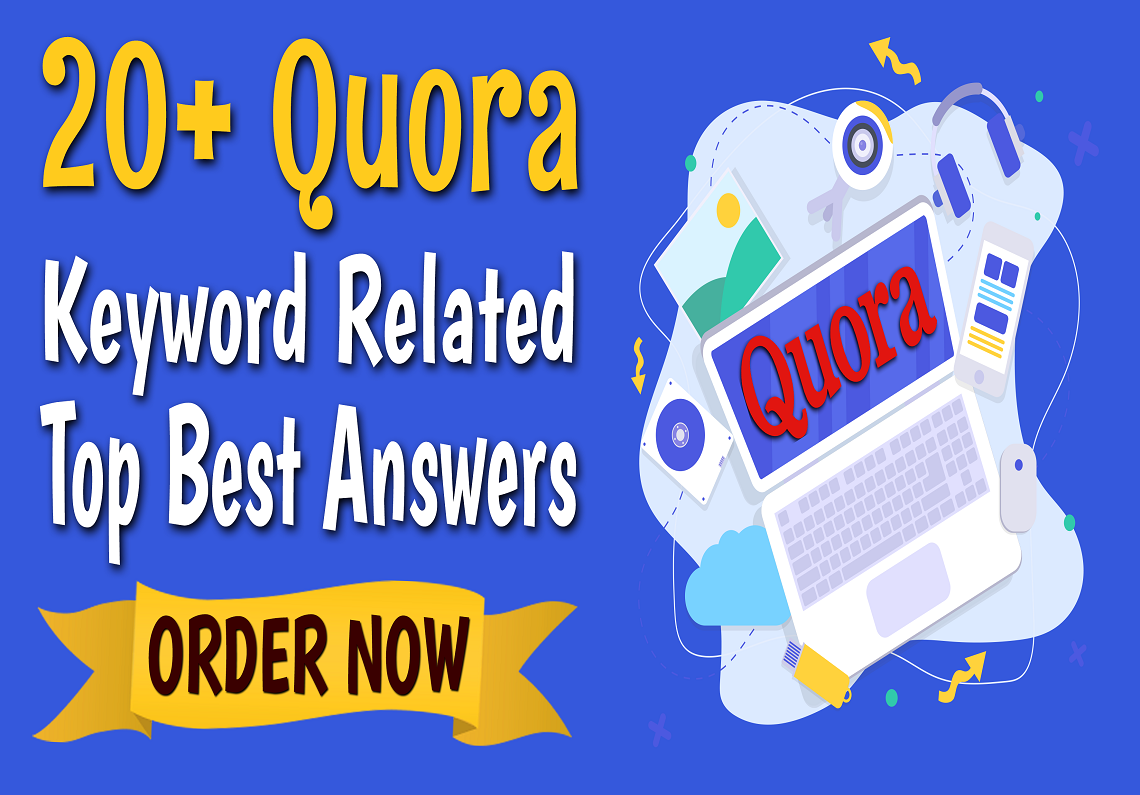 Manually Do 20 Quora Answers Posting Keyword Related Niche Relevant Top Best SEO Backlinks
