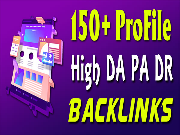 Manually create 150 dofollow seo profile backlinks