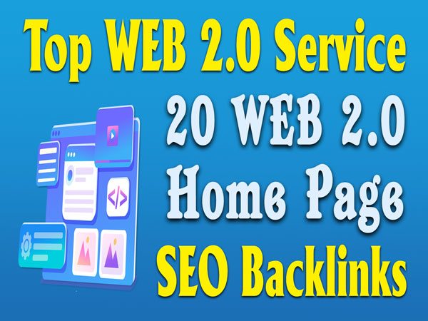 Manually Do 20 Web2.0 Subdomain Homepage Web 2.0 Backlinks