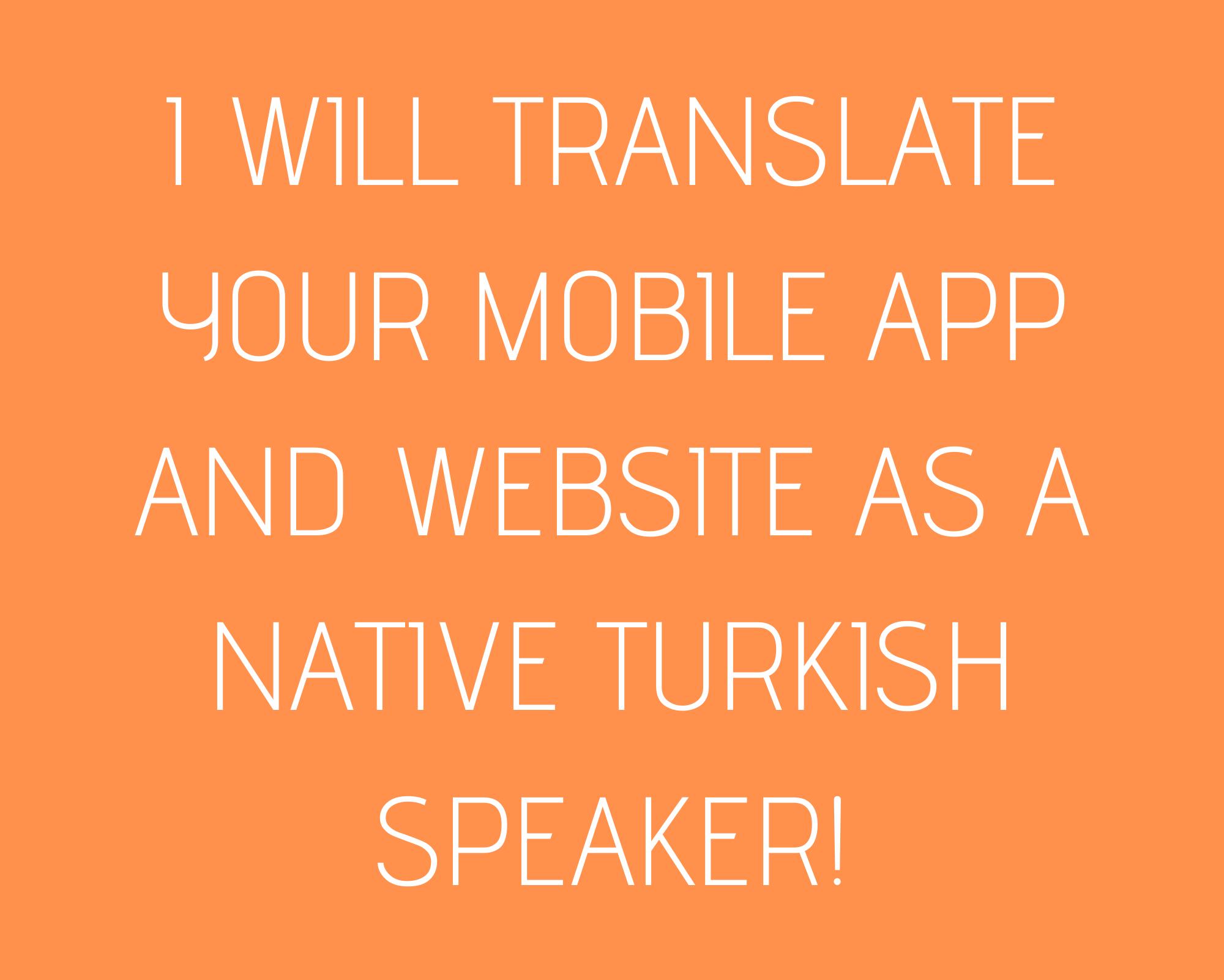 Translating English to Turkish