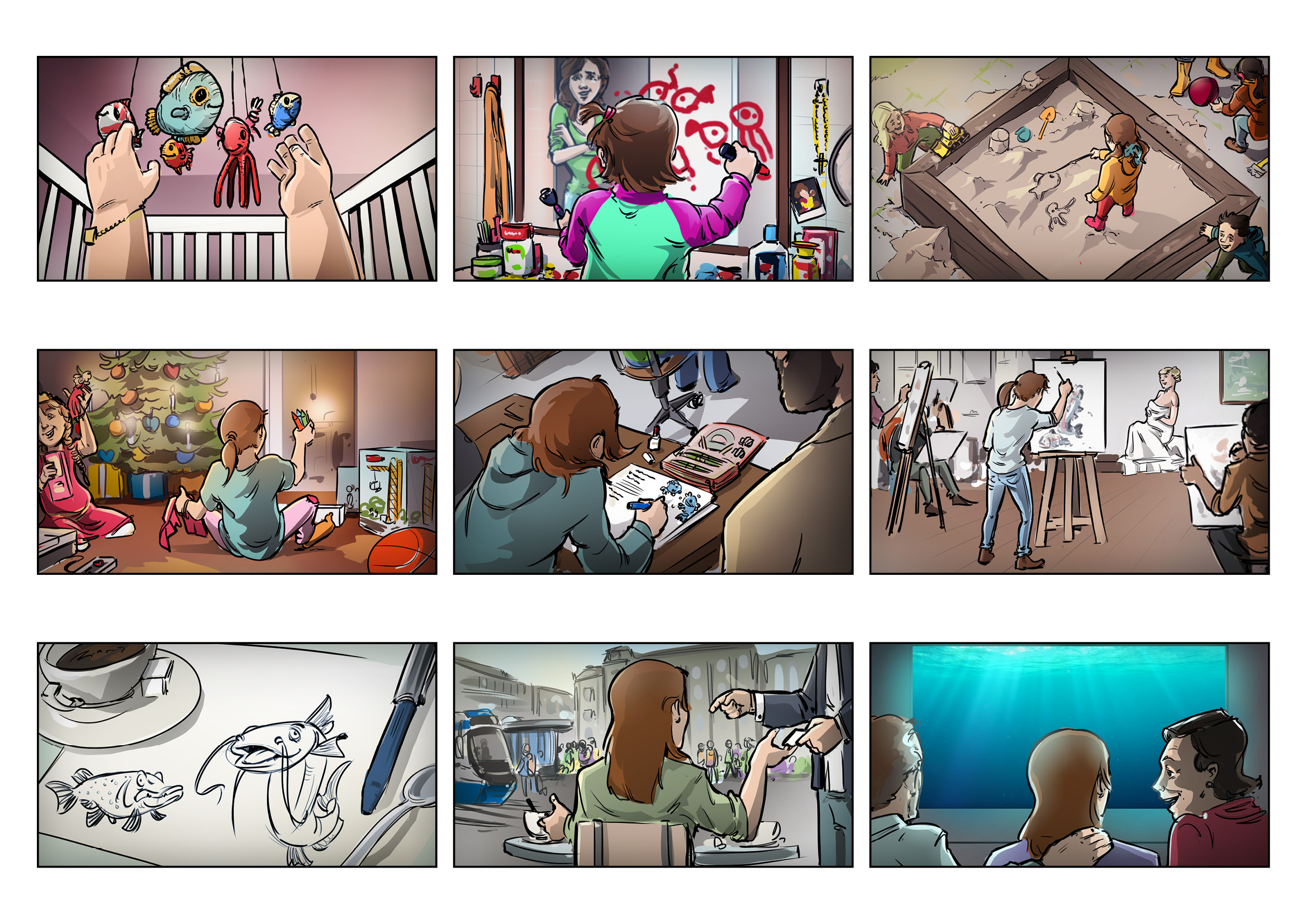 I will create an outstanding storyboard in 24hours