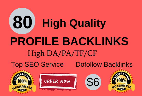Manually create 80 pr9 da 90 dofollow profile backlinks
