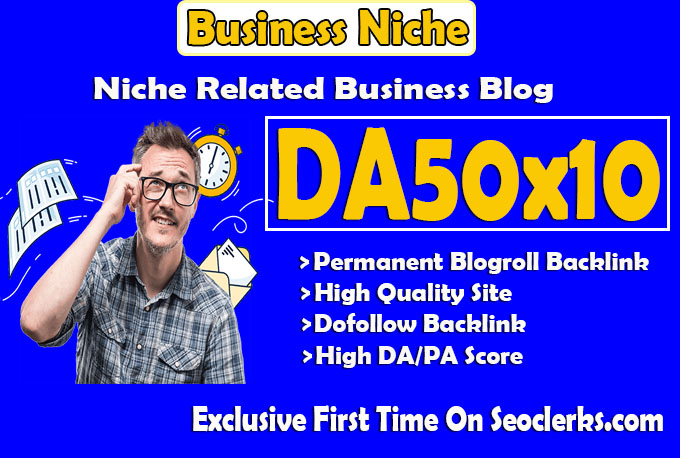 give backlink da50x10 site business blogroll