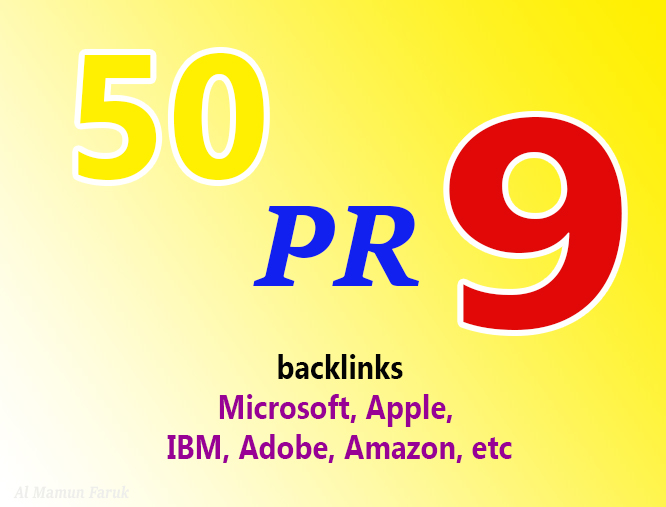 High Quality top ranker 50 pr9 Backlinks