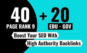 High Quality Top Ranker 40 PR-9 + 20 Edu/Gov DA 70+ High PR Safe Backlinks