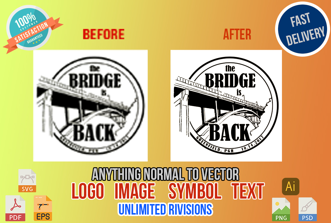 i will create vector trace and line art of your any image or photo