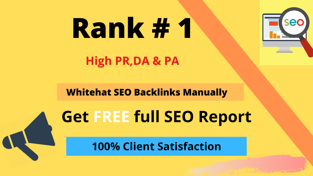 I will build 99 high quality Whitehat SEO backlinks manually