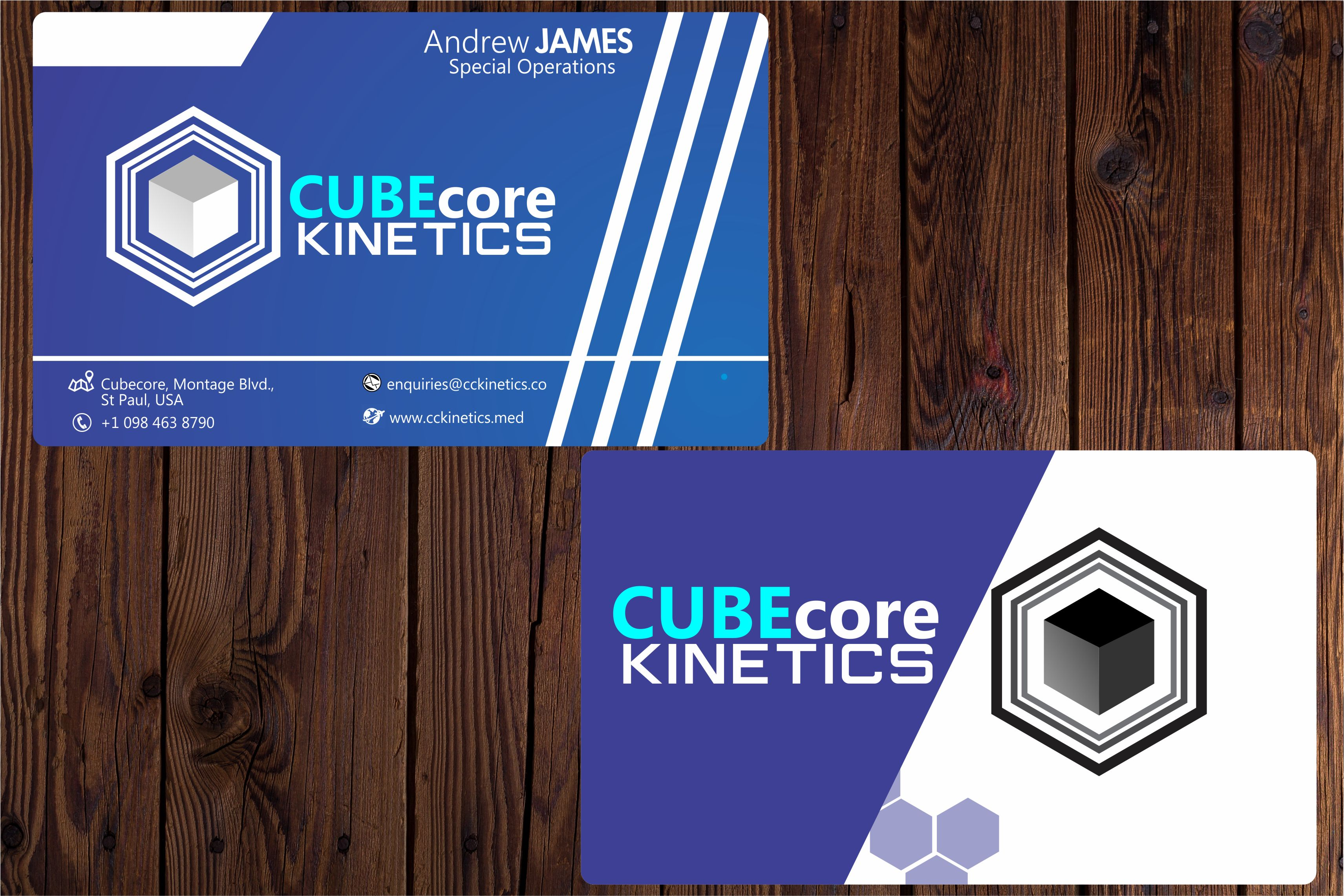 Design creative 2-sided business card