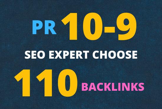 I will build 110 top brand PR 9-10 BACKLINKS