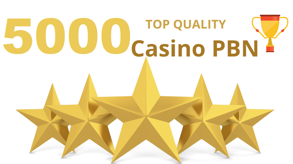 Excellent quality 5000 Casino/Gambling/Poker/Betting web 2.0 Pbn from 5000 unique sites