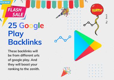 30 DA 99 Dofollow Authority Backlinks From Google Play