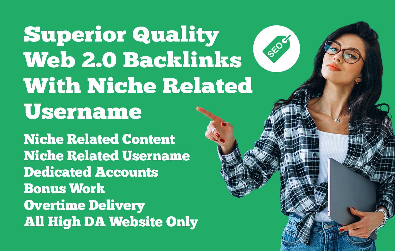 Manually create 200 dofollow web 2 0 backlinks with login
