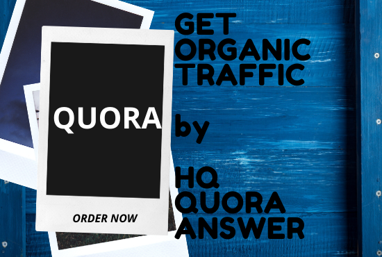 I Will provide you 30 High quality Quora Answers with manual backlinks