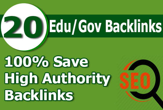 create 20 high PR edu and gov backlinks for your website ranking on google