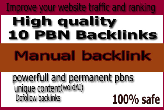 10 High PA/DA TF/CF Homepage PBN Backlinks for ranking on google