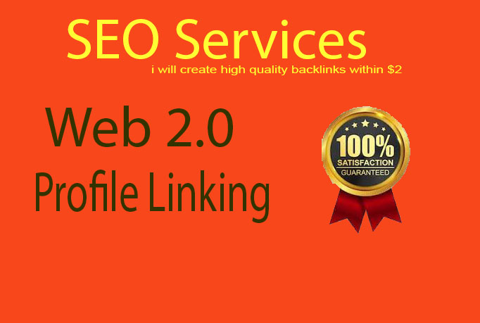 I will create high quality 30 web 2, 0 and profile backlinks with low spam score