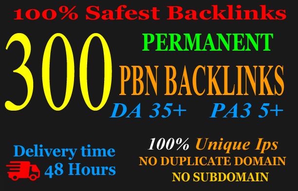 Extreme 300+PBN Backlink in your website hompage with HIGH DA/PA/TF/CF with unique website