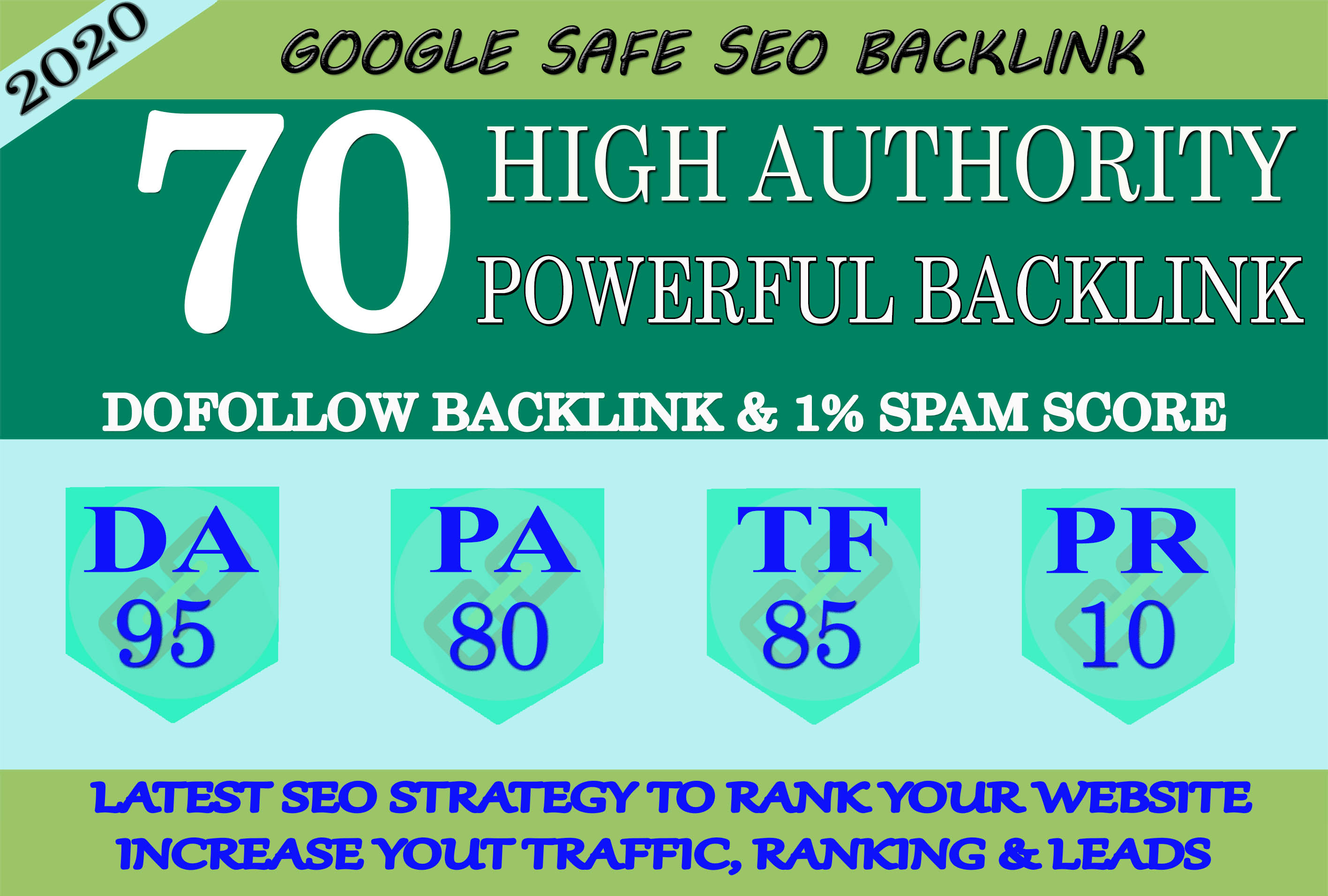 I Will Manually Do 70 High Quality PR10 BackIinks On DA 95 Sites To RANK Your Website