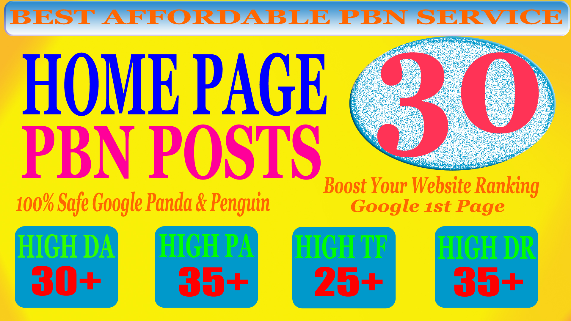 30 Homepage PBN Post with High DA PA CF TF 25+ Moz Authority Expired domain Backlinks