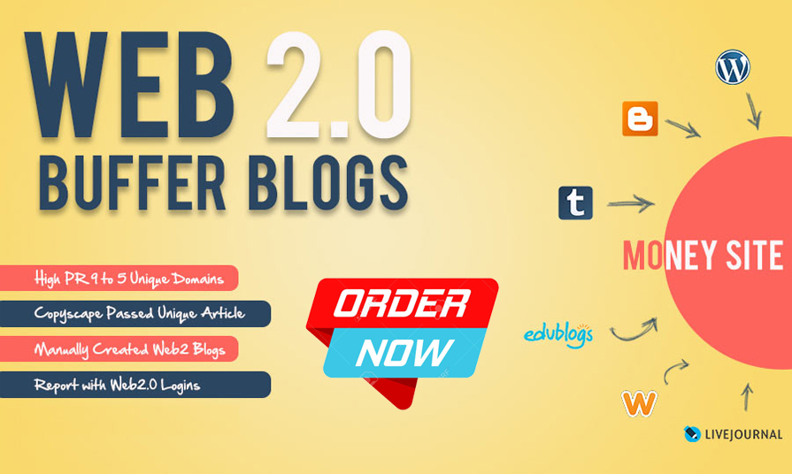 I Will Handmade 10 Web 2.0 Buffer Blogs With Login Details