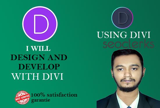 I will create wordpress website using divi theme