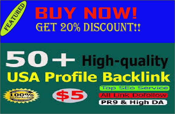 Manually Create 50 pr9 da profile backlinks