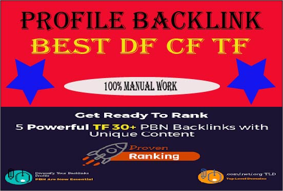 Manually Create 30 pr9 da profile backlinks