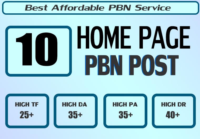 Homepage 10 PBN High 25 Plus DA PA CF TF Moz Authority Expired domain Backlinks