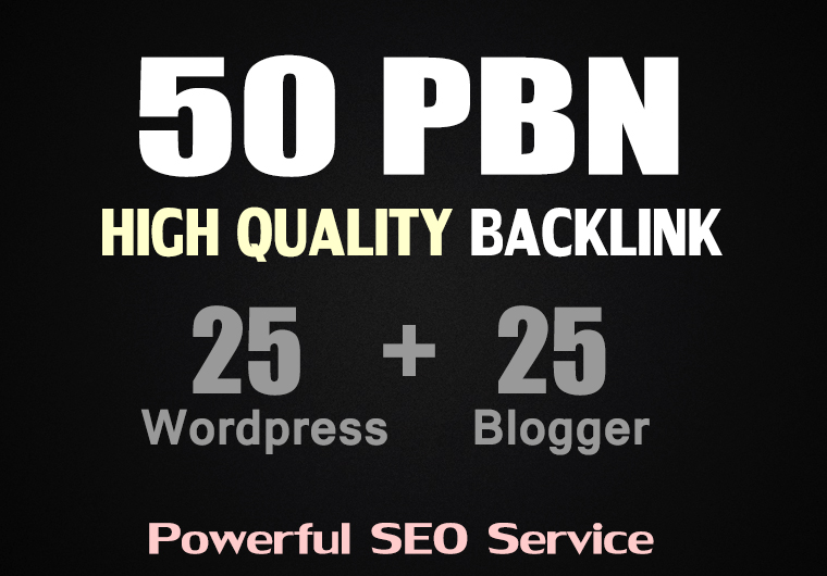 50 Web2.0 PBN Post on Blogger and WordPress High DA Permanent Backlink