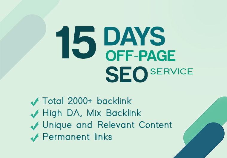 I will do Off Page SEO with backlinks strategy for 15 days