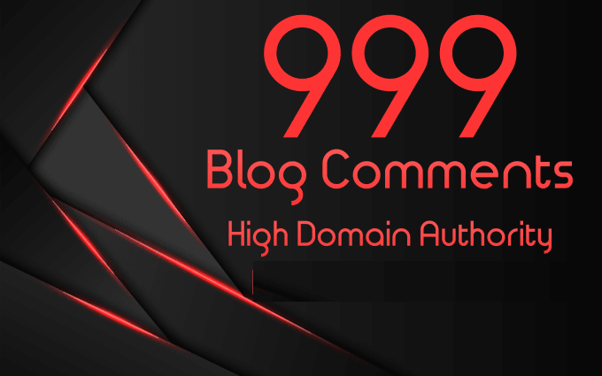 I will Manually create 10 Blog Comments
