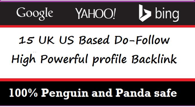 I will create 15 US UK based EDU GOV Do Follow powerful backlinks