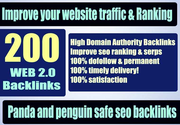 Covid-19 Offer Premium 200+ WEB 2.0 Backlink with Permanent Dofollow & High DA PA TF CF