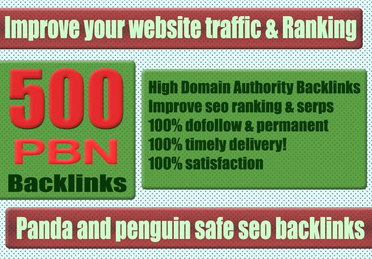 Premium 500+ WEB 2.0 PBN Backlink with Permanent Dofollow & High DA PA TF CF