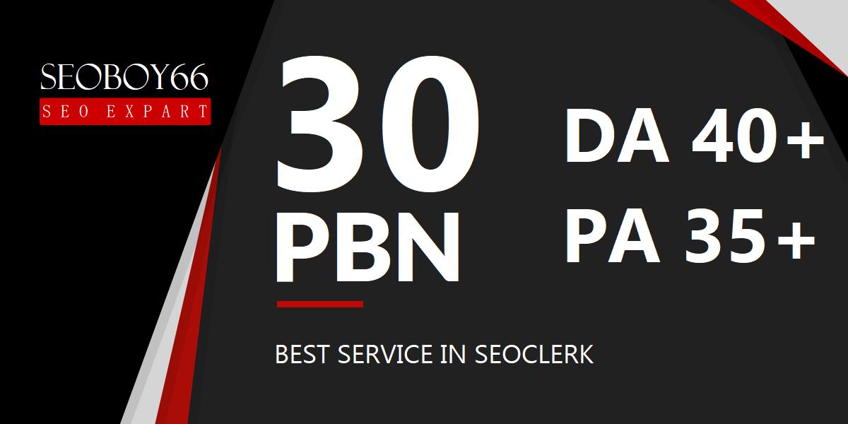 Best quality 30 web 2.0 PBN in 30 unique domains