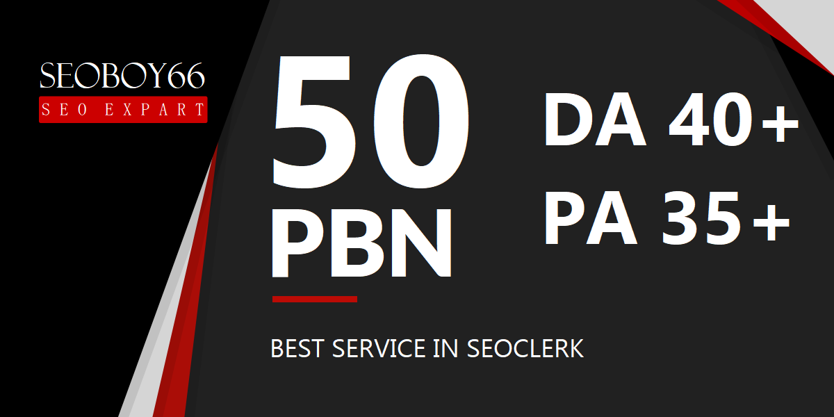 Quality 50 web 2.0 PBN backlinks in unique 50 domain