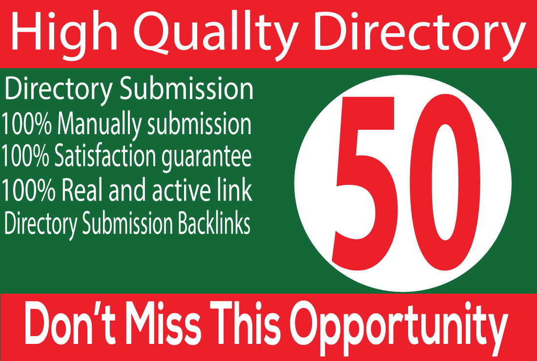 Do 50 High Quality Directory PR Directory submission manually service