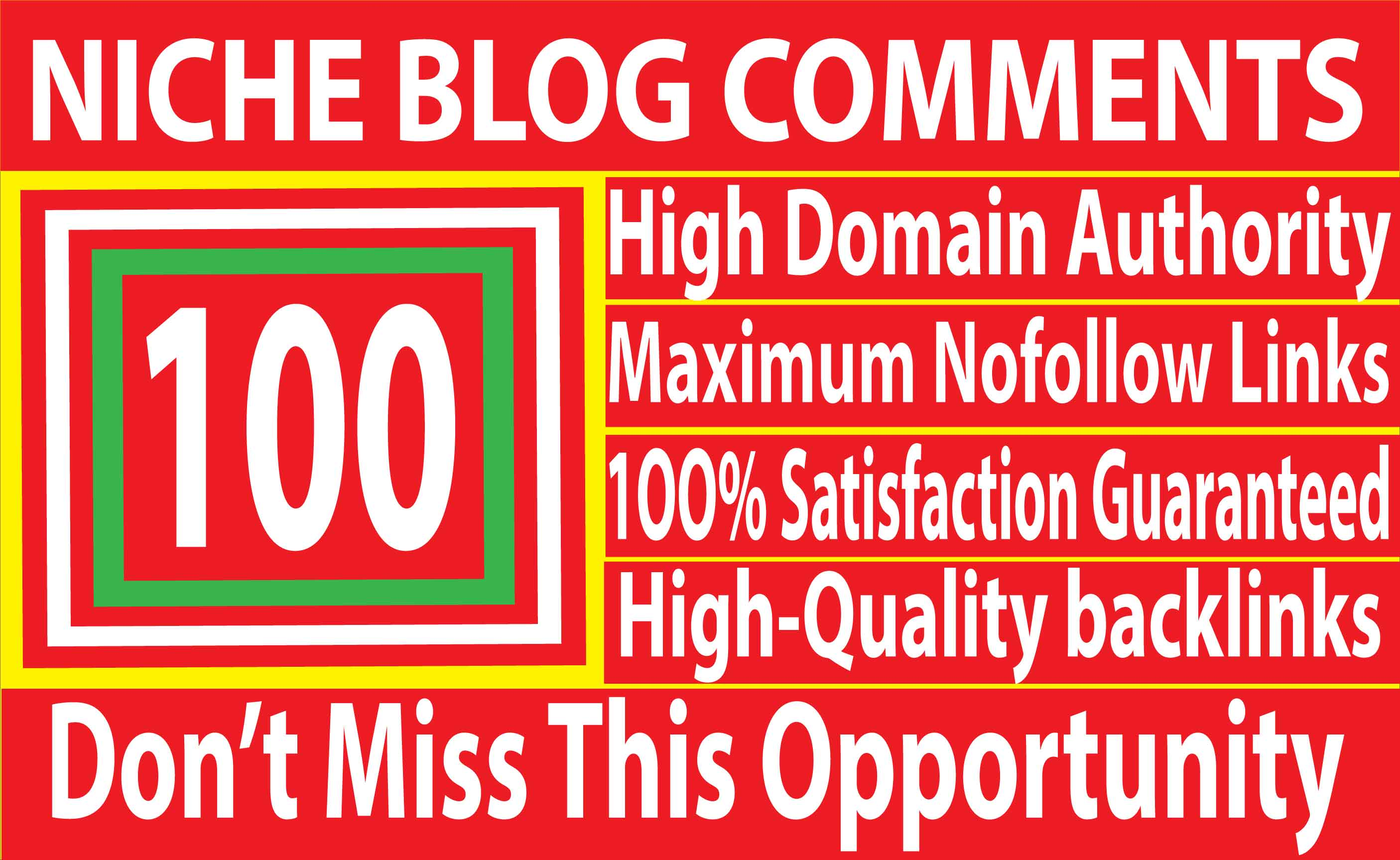 I will Do 100 Niche Relevant Blog Comments Backlinks on High DA 80