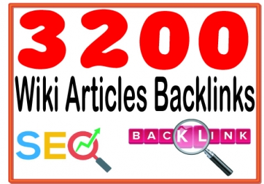 Provide 3200 Contextual Backlinks from Wiki Article submissions